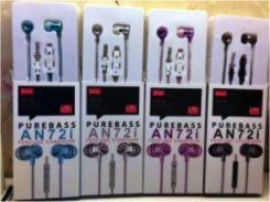 Наушники вакуумные с микрофоном AN72i