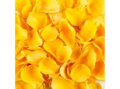 ИСКУССТВЕННЫЕ ЛЕПЕСТКИ РОЗ, 5*5 см желтый