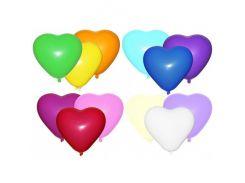 Воздушные Шарики сердце 26 см 100 шт ассорти