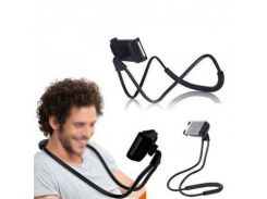 Универсальный держатель для телефона на шею черный