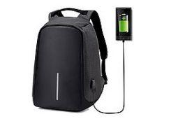 Рюкзак с разъемом usb для зарядки  travel bag  9009