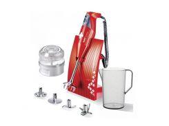 Погружной блендер Bamix Swiss Line, 7 насадок и комплектующих, красный, подставка (100.220)