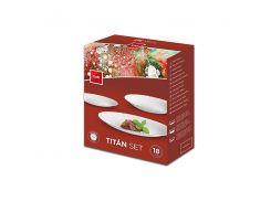 Набор посуды Cok Titan Cegeco, 18 предметов, опаловое стекло (1-000302)