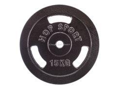 Диск металлический Hop-Sport 15 кг