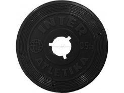 Диск InterAtletika 0,5 кг пластиковое покрытие