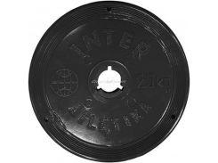 Диск InterAtletika 2,5 кг пластиковое покрытие