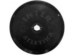 Диск InterAtletika 5 кг пластиковое покрытие