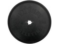 Диск InterAtletika 10 кг пластиковое покрытие