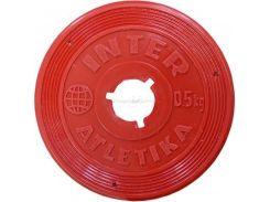 Диск InterAtletika 0,5 кг пластиковый цветной