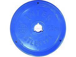 Диск InterAtletika 2,5 кг пластиковый цветной