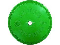 Диск InterAtletika 10 кг пластиковый цветной