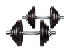 Гантели металлические Hop-Sport Strong 2х20 кг