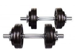 Гантеля металлическая Hop-Sport Strong 1х15 кг