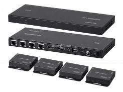 MP18786 Blackbird 4K HDMI 1x4 сплиттер - удлинитель по Cat5e и Cat6 с ИК, Loop Out, EDID, POC с 4 приемниками, до - 50 м.
