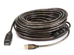 MP7644 Активный удлинитель / репитер, USB 2.0 кабель тип A/A (штекер - гнездо), длина 25 м.