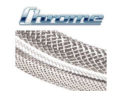 Chrome CHN0.38SV - Декоративная кабельная оплётка из нержавеющей стали, диапазон растяжки 0.64 - 1.59, цена за 1 м.