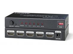 KanexPro SP-HD1X44K - Сплиттер HDMI 1x4 с разрешением 4K, режим EDID
