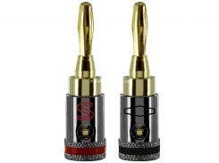 Sewell Direct SW-29923-02 Разъем banana plugs ( 1 пара ) с фиксатором для кабеля до 4 мм.