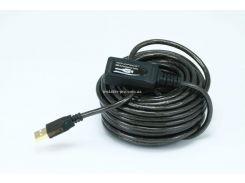 MP6149 Активный удлинитель / репитер, USB 2.0 кабель тип A/A (штекер - гнездо), длина 10 м.