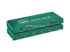 HDSW4-N Коммутатор HDMI 4x1 1080P, поддержка 4Kx2K