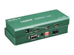 SFX911-2 Сплиттер HDMI 1x2, версия 2.0, 4K и 3D