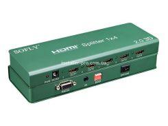 SFX911-4 Сплиттер HDMI 1x4, версия 2.0, 4K и 3D