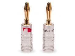"""N0804BR Разъем тип """"банан"""" для акустического кабеля до 4 мм., (пара)"""