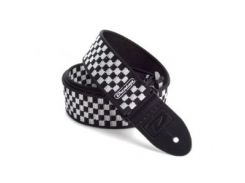 Гитарный ремень Dunlop D3831 BK B&W Check