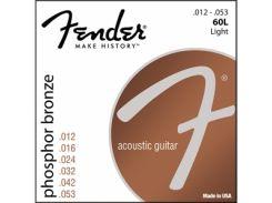 Струны для акустической гитары Fender 60L (.012-.053)