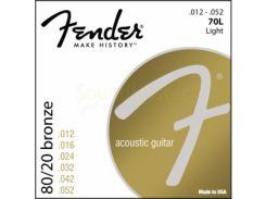 Струны для акустической гитары Fender 70L (.012-.052)