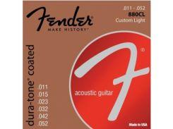 Струны для акустической гитары Fender 880CL 80/20 Dura-Tone Coated (.011-.052)