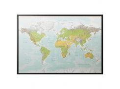 BJORKSTA Картину с рамой, планета Земля, серебро