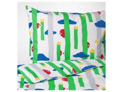 AVSIKTLIG Комплект постельного белья, зеленый