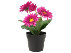 FEJKA Искусственное растение в горшке, Гербера, розовый