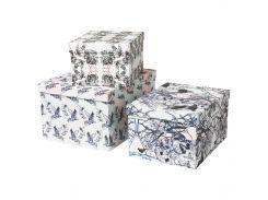 STUNSIG Коробка с крышкой, 3 шт., девочка, волк, леопард