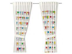 HEMMAHOS Завеса с обвязкой, 2 шт., разноцветные