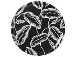 AVSIKTLIG Лоток, черный, белый листья