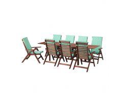 ЭПЛАРО Стол+8 кровать. стульев, на открытом воздухе, коричневая морилка, Hallo бежевый