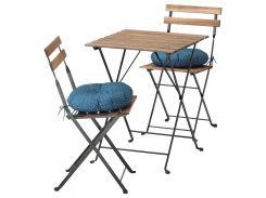TARNO Стол+2 стула, на открытом воздухе, серый/коричневый, Stegon бежевый