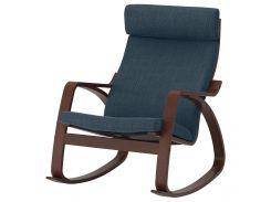 POANG Кресло, кресло-качалка, коричневый, Stenli черный/белый
