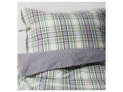 SNARJMARA постельное белье, клетчатый, зеленый