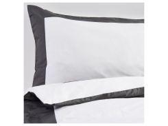 KUDDFLOX Комплект постельного белья, белый, серый