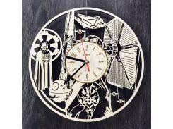 Деревянные часы ручной работы 7Arts Звездные Войны CL-0126