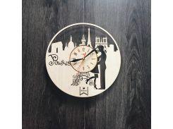 Интерьерные деревянные часы 7Arts Париж Cl-0033