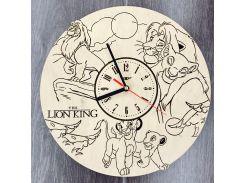 Детские настенные часы из дерева 7Arts Король Лев CL-0093