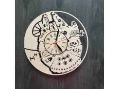 Настенные часы из натурального дерева 7rts Тысячелетний Сокол CL-0039