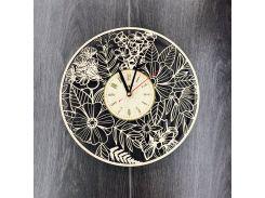 Часы ручной работы настенные деревянные 7Arts Летние цветы CL-0065