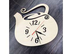 Настенные часы из натурального дерева 7rts Чайник CL-0015