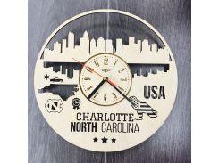 Интерьерные часы на стену 7Arts Шарлотт, Северная Каролина CL-0107