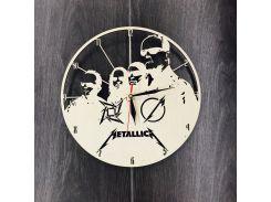 Часы из дерева на стену 7Arts Metallica CL-0049
